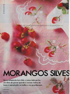 modelo de toalha bordada com morangos