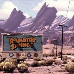 the desert town of Radiator Springs
