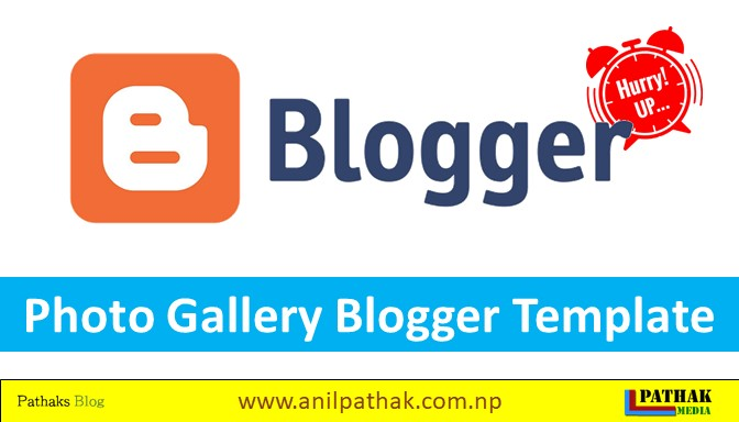 Photo Gallery Blogger Template