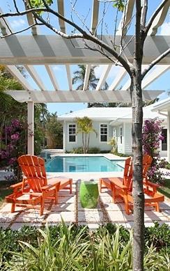 orange lounge chairs