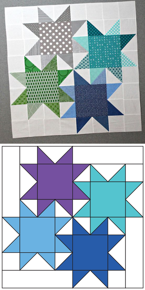 Star Cluster Quilt - Free Pattern