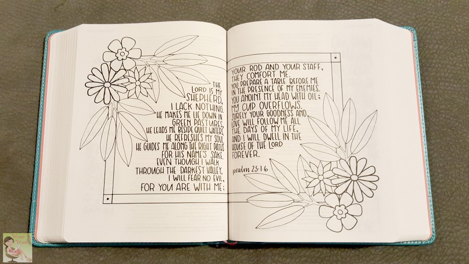 Woven by Words: Beautiful Word Coloring Bible For Girls Review ...