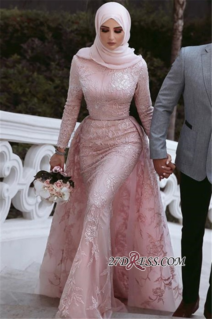 https://www.27dress.com/p/appliques-lace-overskirt-long-sleeves-beading-pink-evening-dress-109373.html