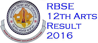 RBSE 12th Board Arts 2016 Exam Result