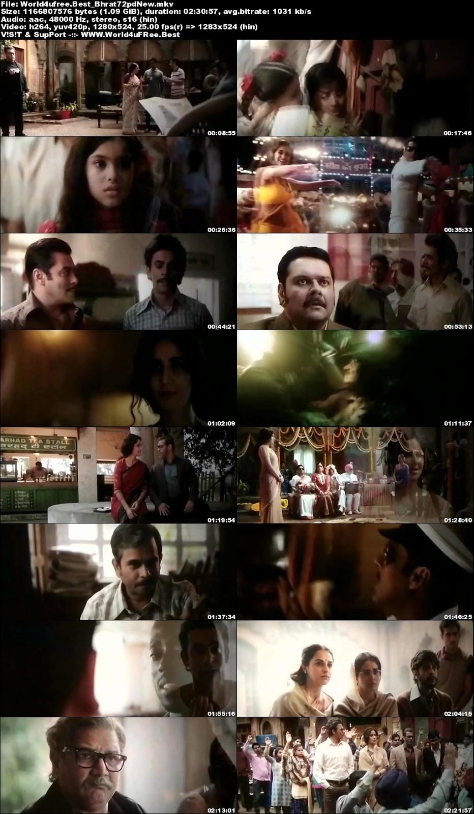 Slaman Khan's Bharat (2019) Pre-DVDRip Leaked on World4UFree