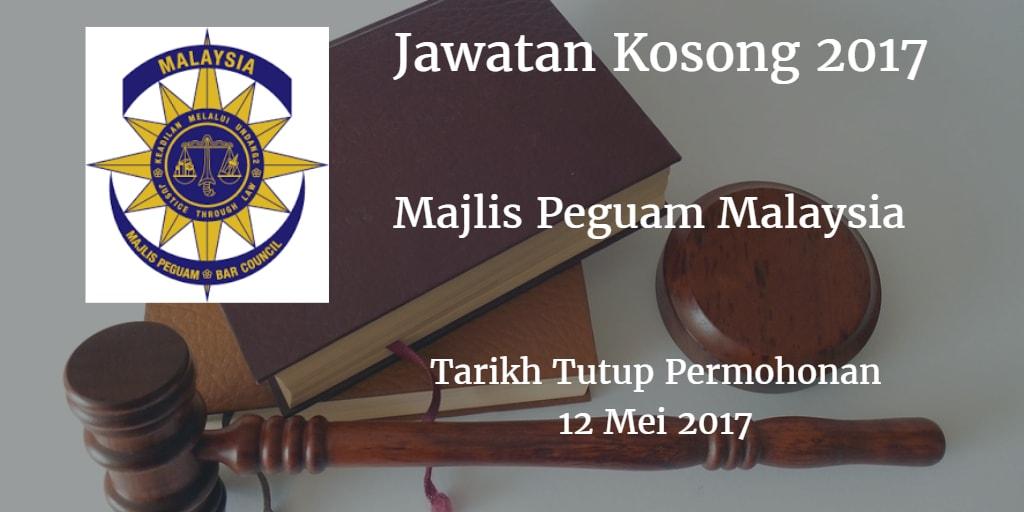 Jawatan Kosong Majlis Peguam Malaysia 12 Mei 2017