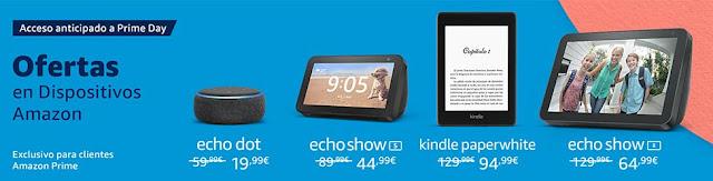 Ofertas anticipadas Prime Day en Dispositivos Amazon
