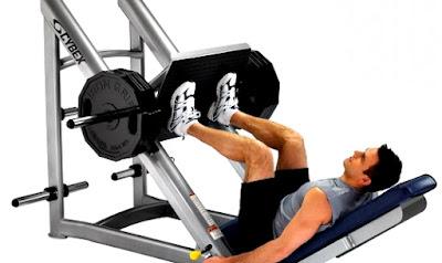 Prensa ejercicio rutina hombre
