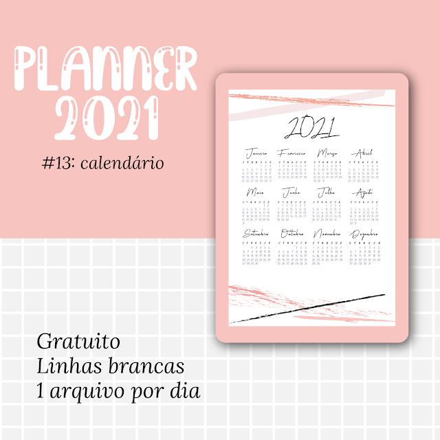 planner 2021 calendario