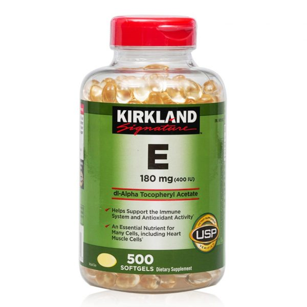 Viên uống Vitamin E Kirland mẫu mới