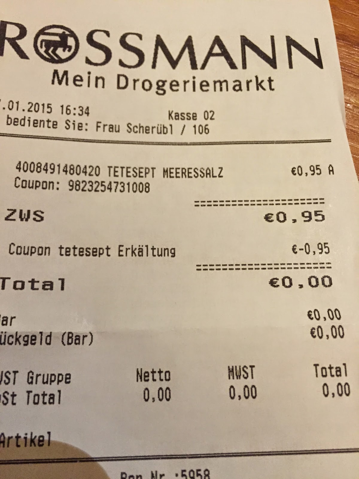 rossmann coupon liste