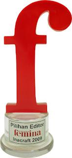 Booth Char n Coll mendapatkan penghargaan pilihan editor Femina - Pameran Inacraft Jakarta 2009