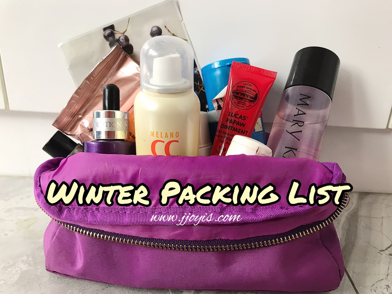 travel skincare packing list winter edition jjoyis