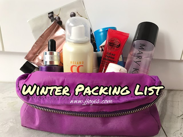 Travel: Skincare Packing List, Winter Edition (Downloadable)