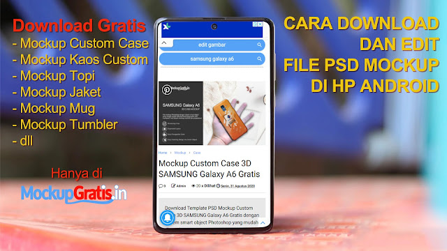 Cara Download dan Edit File PSD Mockup di HP Android