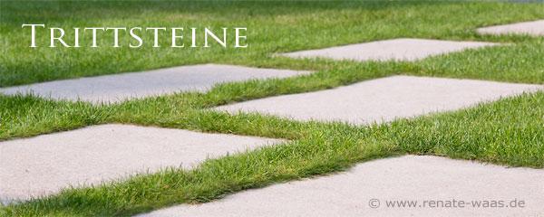 Gartengestaltung modern, Trittsteine im Rasen, Betonplatten als Trittsteine, Trittsteine, Gartengestaltung mit Beton,