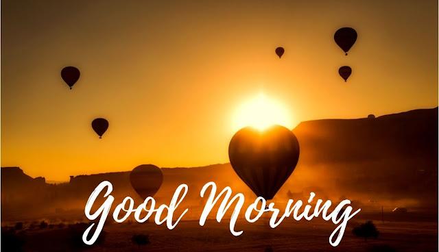 Good Morning hindi message Sunrise in Sky Image