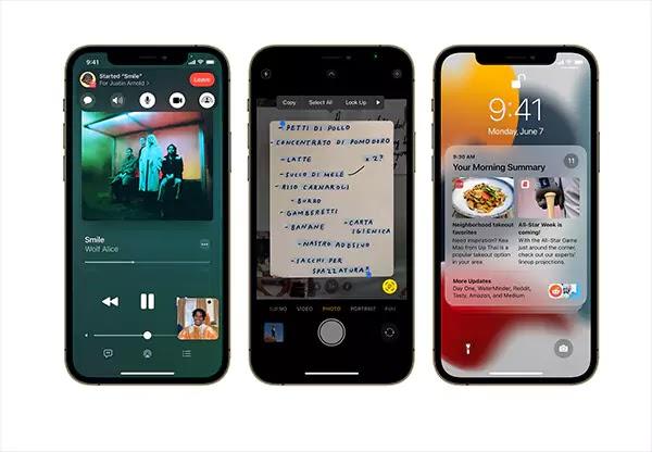 ميزات iOS 15