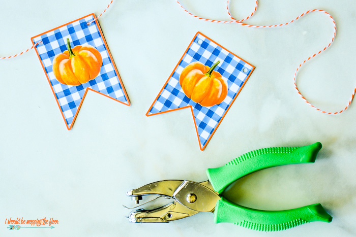 Watercolor Pumpkin Banner