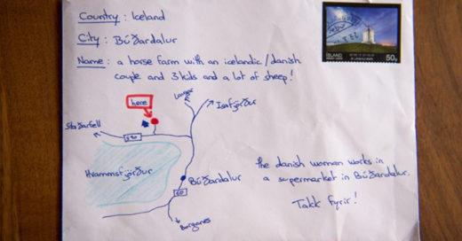 Escribe carta, olvida la dirección y dibuja mapa en el sobre