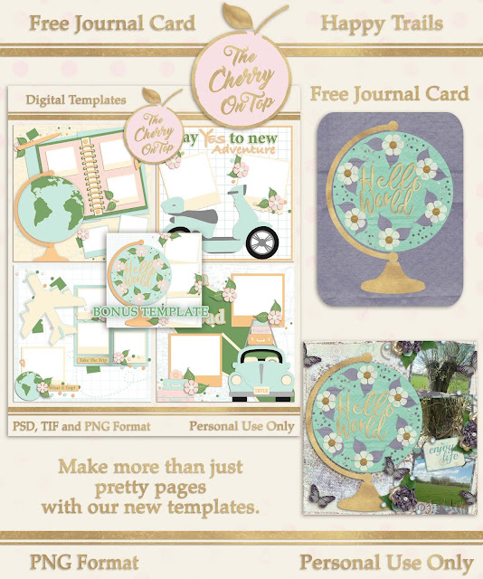 Free Journal Card, Happy Trails and Tree of Life