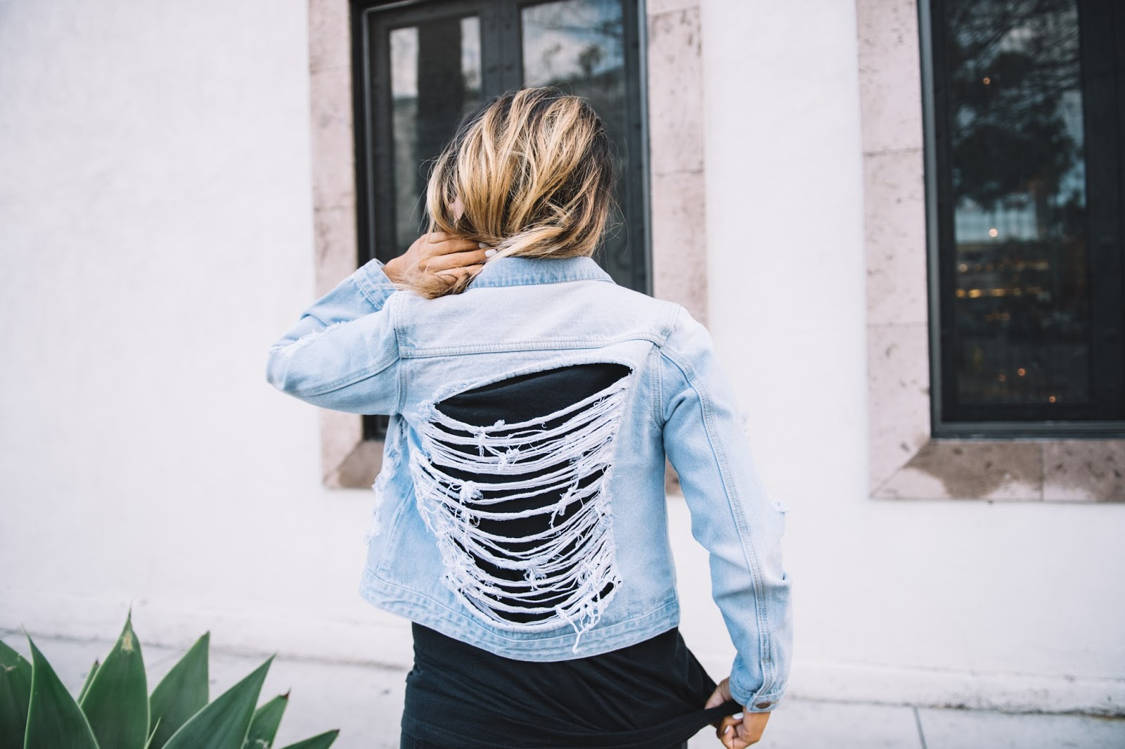 Ripped Denim Jacket || My Cup of Chic