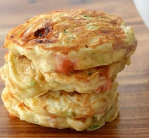 HAM, CHEESE AND ZUCCHINI PIKELETS #lunch #freezerfriendly