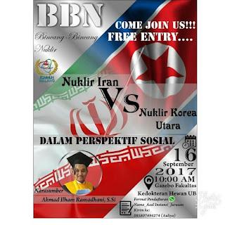 Coming Soon Bincang Bincang Nuklir: Konflik Nuklir Iran dan Korea Utara dalam Perspektif Sosial