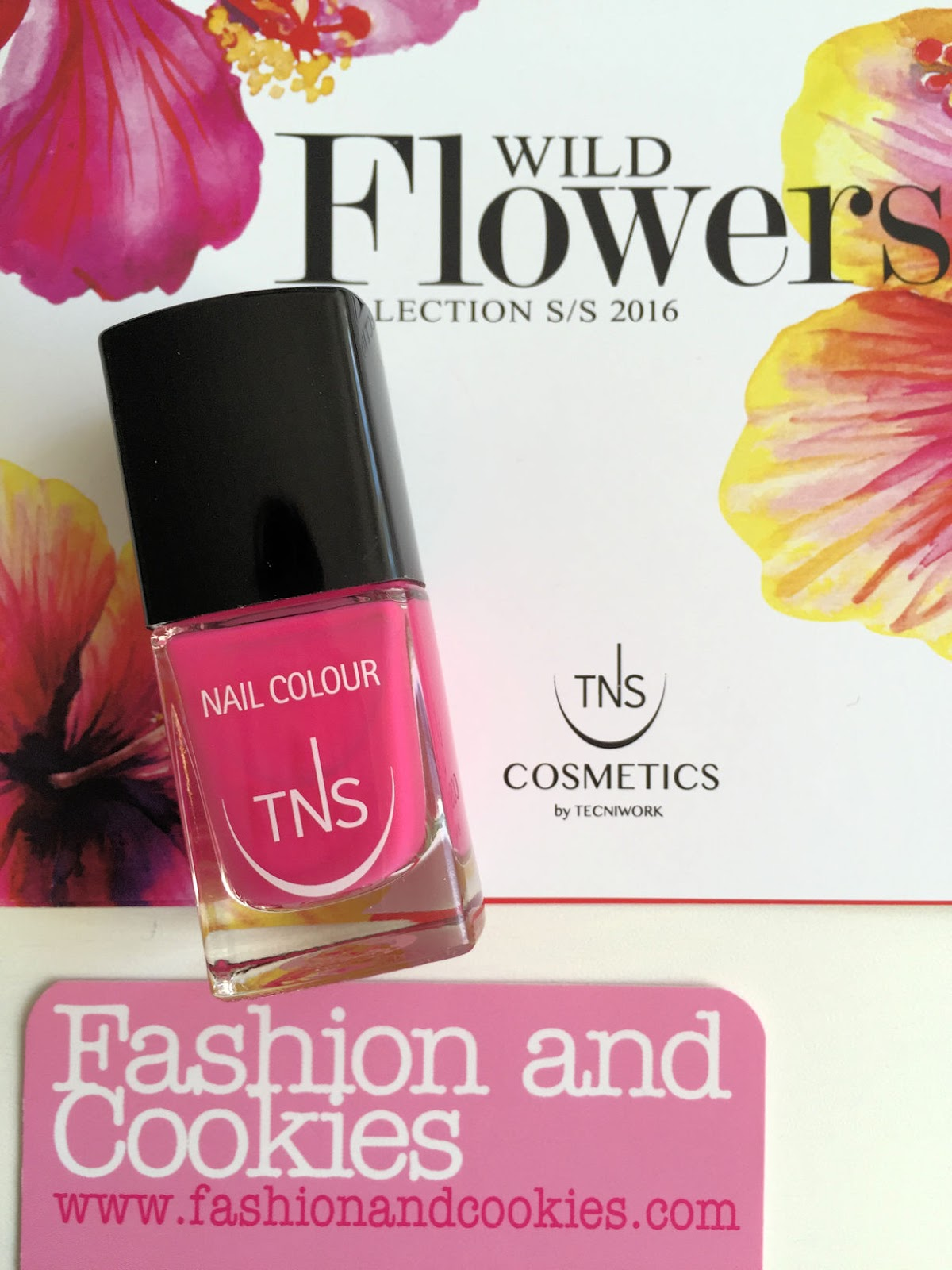 TNS Cosmetics Sweet Hibiscus nail polish review on Fashion and Cookies beauty blog, beauty blogger