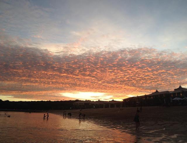 Sunset di Pantai Geger