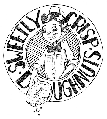 Sweetly Crips Doughnuts Logo