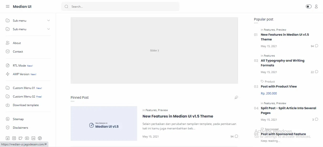 Median-UI-Blogger-Template-Home-Page