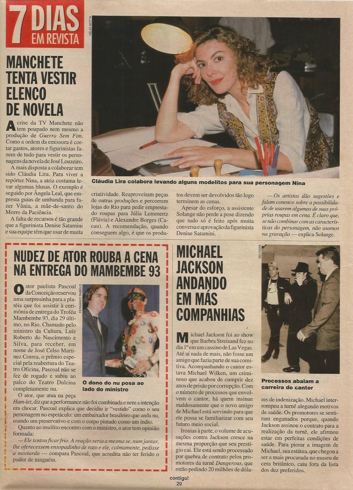 2f23564ba TUDO ISSO É TV: CONTIGO Nº 956 - JANEIRO 1994