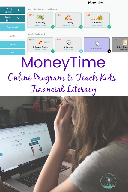 MoneyTime Review: an Online Program to teach kids about money