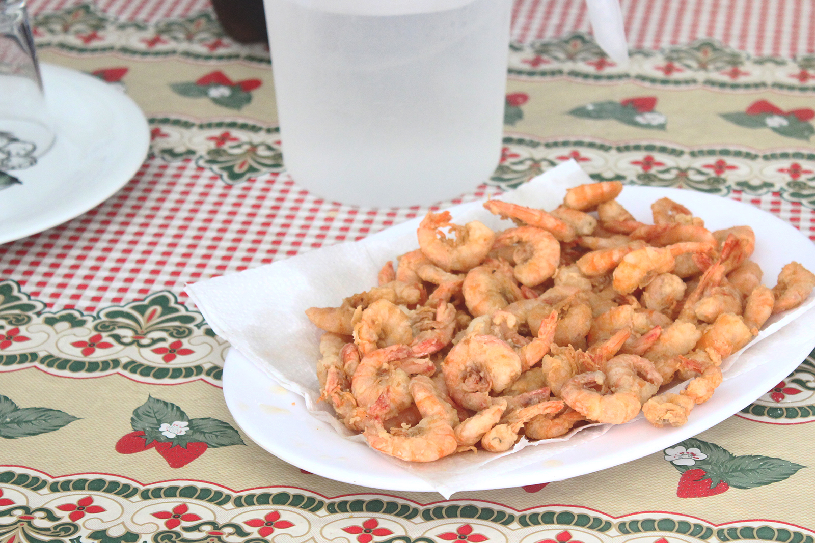 camarões empanados fritos