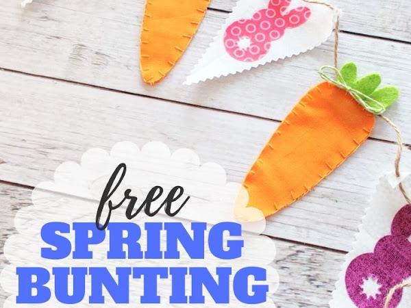 Simple Spring Bunting Pattern