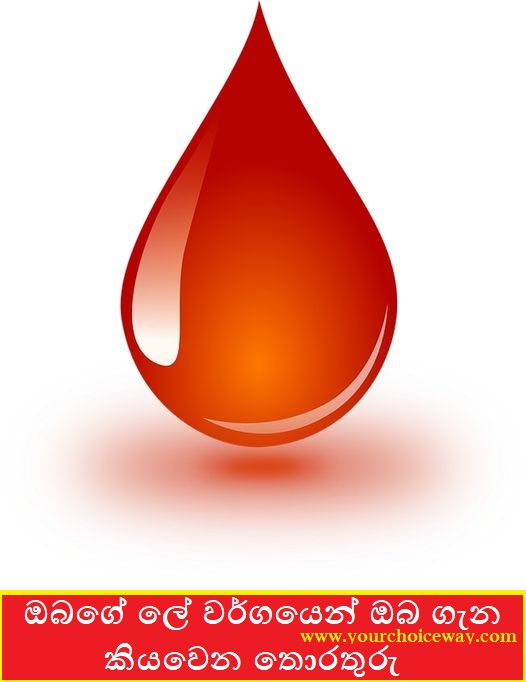 ඔබගේ ලේ වර්ගයෙන් ඔබ ගැන කියවෙන තොරතුරු (By Blood Type) - Your Choice Way