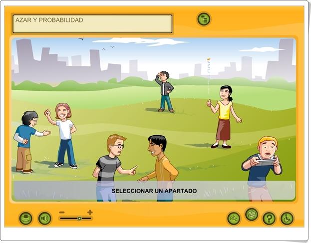 """""""Azar y probabilidad"""" (Aplicación interactiva de Matemáticas de Primaria)"""