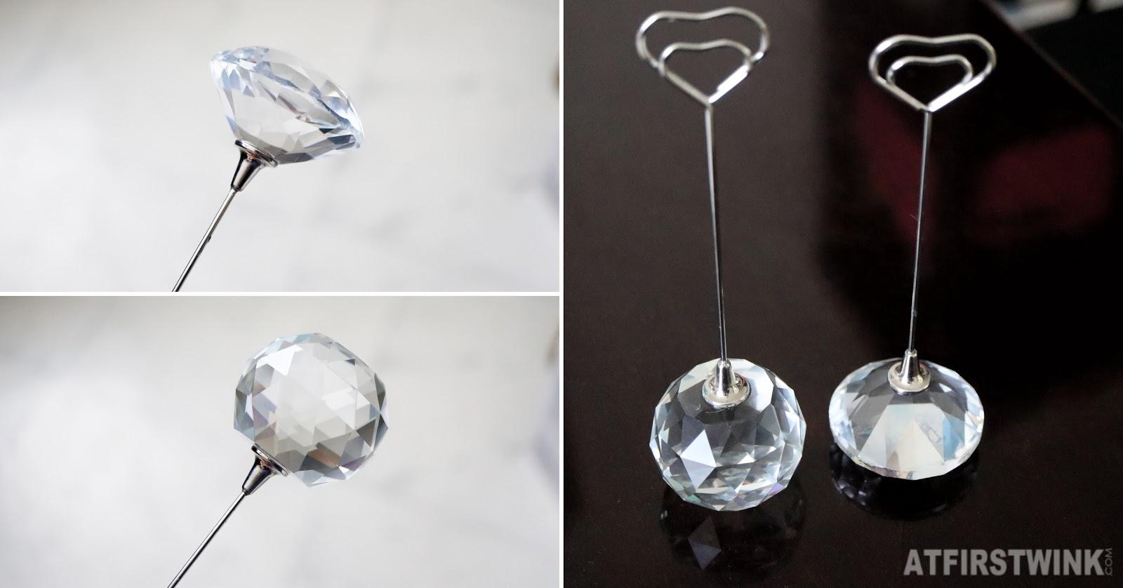 Søstrene grene name card holders crystal