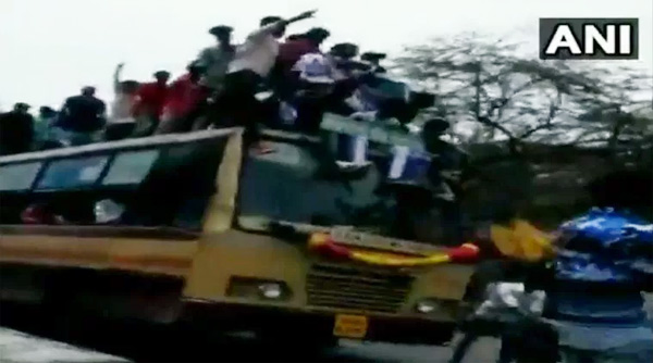 Chennai students climb, fall off moving bus while celebrating Bus Day | Watch, News, Celebration, Students, Court, Police, Warning, Arrested, Injured, hospital, Treatment, Video, Dance, National