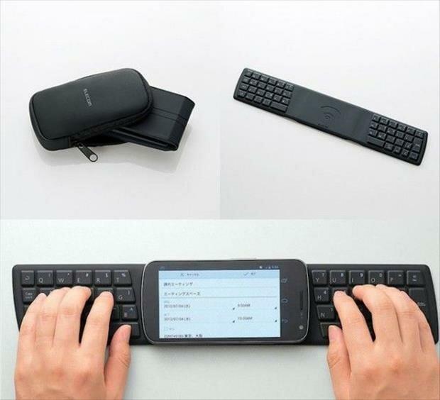 Teclado plegable para teléfono inteligente