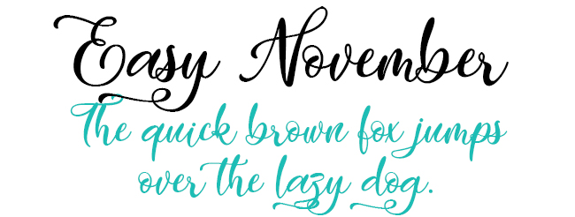 Easy November Font Download
