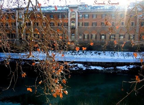 Neve sull'isola Tiberina