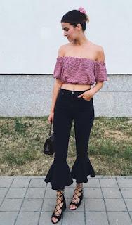 Celana Jeans Wanita Ruffle Jeans