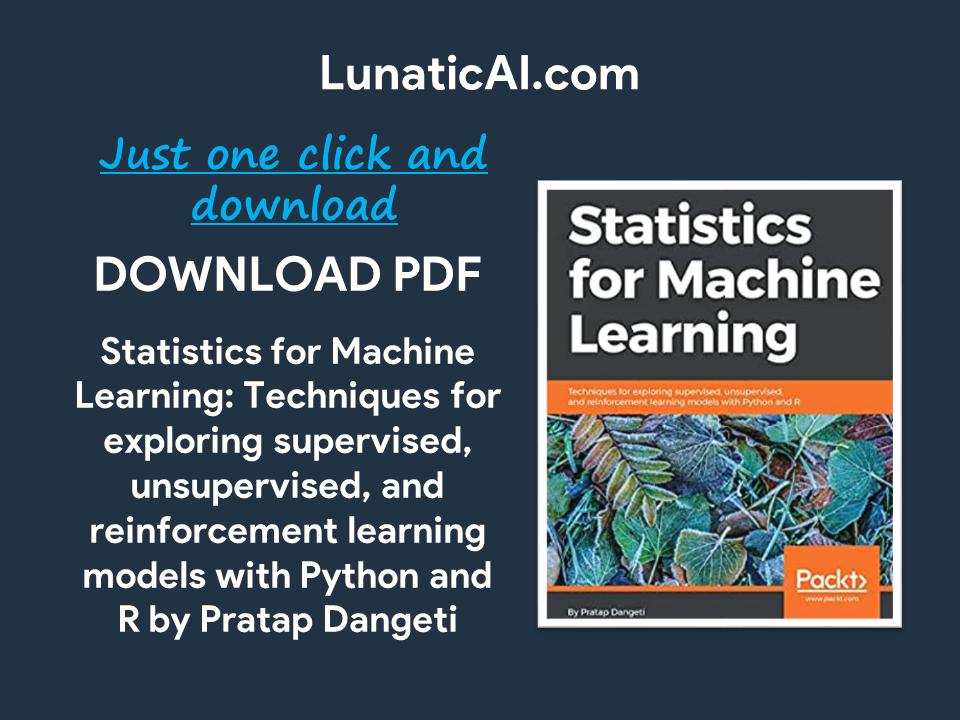 Statistics for Machine Learning PDF Github