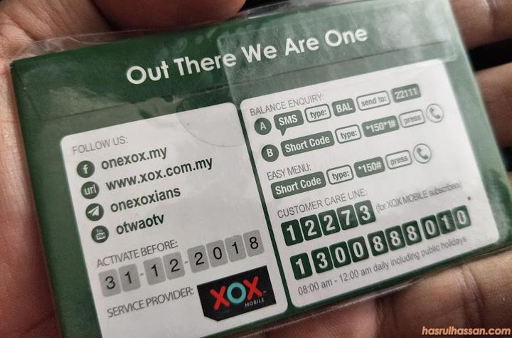 Baru Nak Cuba ONEXOX Prepaid