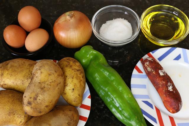 Ingredientes para patatas cortijeras