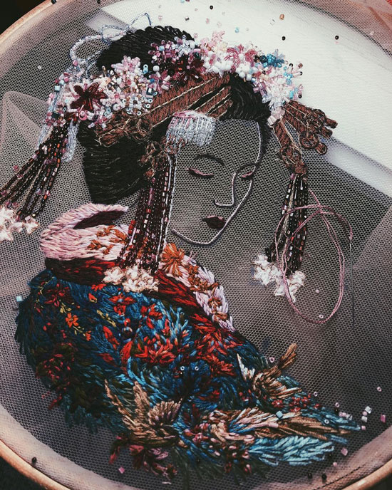 sulam 3d karya katerina marchenko