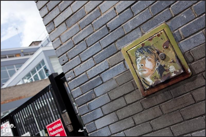 C215 - Shoreditch Street Art Portrait of artist Ben Slow