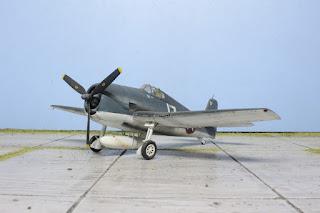 Galerie photos de la maquette du F6F-3 Hellcat d'Hasegawa au 1/48.